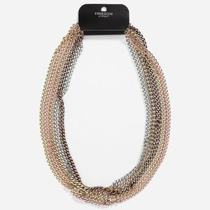 TOPSHOP Multi Chain Necklace